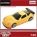 CJ64 - CHEVROLET CORVETTE C6-R Amarelo - California Junior - 1/64