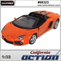 Lamborghini AVENTADOR LP 700-4 Roadster Laranja - California Action - 1/32