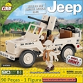 Jeep Willys MB North Africa 1943 24093 - Cobi 90 peças