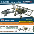 Avia B.534 early series Quattro Combo (4 Kits) - Super 44 Eduard - 1/144