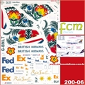 DECAL - Boeing 747-400 British / MD-11 FedEx / 737-500 Rio Sul - FCM - 1/200