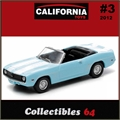 C64 - 1969 Chevy CAMARO Conversível - Greenlight - 1/64