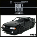 BLACK BANDIT  6 - 1989 Ford MUSTANG GT - Greenlight - 1/64