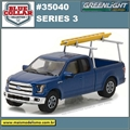 2015 - Ford F-150 with Ladder Rack - Greenlight - 1/64