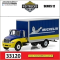 International DuraStar MICHELIN Baú - Greenlight - 1/64