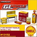 GLMUSCLE - Acessórios de Posto SHELL OIL Shop Tools - Greenlight - 1/64