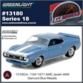 GLMUSCLE 18 - 1971 AMC Javelin AMX Azul - Greenlight - 1/64