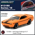 GLMUSCLE 18 - 2014 Dodge Challenger R/T Laranja - Greenlight - 1/64