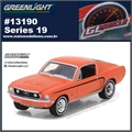 GLMUSCLE 19 - 1968 Ford Mustang GT Laranja - Greenlight - 1/64