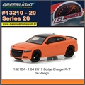 GLMUSCLE 20 - 2017 Dodge Charger R/T Laranja - Greenlight - 1/64