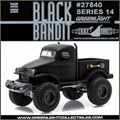 BLACK BANDIT 14 - 1941 Military 1/2 ton 4x4 - Greenlight - 1/64
