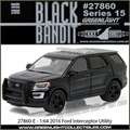 BLACK BANDIT 15 - 2016 Ford Interceptor Utility - Greenlight - 1/64
