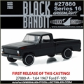 BLACK BANDIT 16 - 1967 Ford F-100  - Greenlight - 1/64