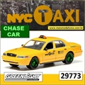 Ford Crown Victoria NYC Taxi CHASE CAR - Greenlight - 1/64