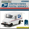 USPS LLV with Mailbox - Greenlight - 1/64