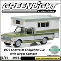 1968 - Chevrolet C10 Cheyenne e Larger Camper - Greenlight - 1/64