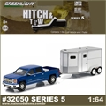 2015 Chevrolet Silverdo 1500 and Horse Trailer - Greenlight Hitch and Tow - 1/64