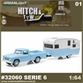 1963 Dodge D-100 and Shasta Airflyte - Greenlight Hitch and Tow - 1/64