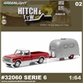 1968 Chevrolet C10 and Airstream 16 - Greenlight Hitch and Tow - 1/64