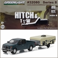 2015 Ford F-150 and Camper Trailer - Greenlight Hitch and Tow - 1/64