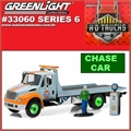 INTERNATIONAL DuraStar GULF Flatbed CHASE CAR - Greenlight - 1/64