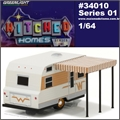 1964 - WINNEBAGO 216 Travel Trailer - Greenlight - 1/64