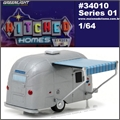 Airstream 16 BAMBI Trailer - Greenlight - 1/64