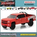 2018 - Chevrolet Silverado 1500 - Greenlight - 1/64