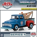 1956 - Ford F-100 Tow Truck - Blue Collar Greenlight - 1/64