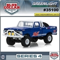 1972 - Ford F-100 Pickup - Blue Collar Greenlight - 1/64