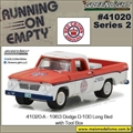 1962 - Dodge D-100 Long Bed with Tool Box - Greenlight - 1/64