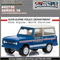 HP 16 - 1987 Ford Bronco GLEN ALPINE Police Dpt - Greenlight - 1/64