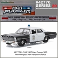 HP 20 - 1967 Ford Custom NEW HAMPTON Police - Greenlight - 1/64