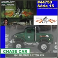 GL HOLLYWOOD 15 - 1941 Military 1/2 TON 4x4 CHASE CAR - 1/64