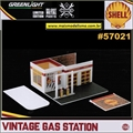 Posto de Gasolina Vintage SHELL - Greenlight - 1/64