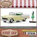 1955 - Chevrolet Bel Air with Woman wearing Dress - Greenlight - 1/64
