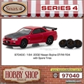 2002 - Nissan Skyline GT-R (BNR34) with Spare Wheels - Greenlight - 1/64