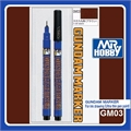Marcador GRUNDAM MARKER GM03 Marrom Ponta ULTRA Fina (0,04mm) - Mr Hobby