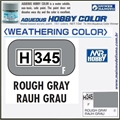 Tinta Gunze Acrílica H345 ROUGH GRAY Fosco - Mr Hobby - 10ml