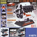 Motor DODGE 6.1l SRT HEMI V8 - Kit HAWK - 1/6