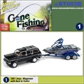 1981 - Jeep Wagoneer with Boat and Trailer - Johnny Lightning - 1/64