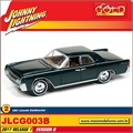 1961 - Lincoln Continental Verde - Johnny Lightning - 1/64