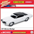 1971 - Mercury Montego Branco - Johnny Lightning - 1/64