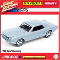 1965 - Ford Mustang Azul Claro - Johnny Lightning - 1/64
