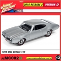 1969 - Olds Cutlass 442 Prata - Johnny Lightning - 1/64