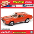 1969 - AMC AMX Laranja - Johnny Lightning - 1/64