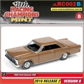 1965 - Ford Galaxie 500 Marrom - Johnny Lightning - 1/64
