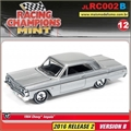 1964 - Chevy Impala Prata - Johnny Lightning - 1/64