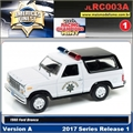 1980 - Ford Bronco Patrol Branco - Johnny Lightning - 1/64