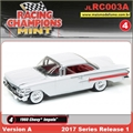 1960 - Chevy Impala Branco - Johnny Lightning - 1/64